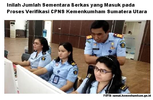 Inilah Jumlah Berkas Sementara yang Masuk pada Proses Verifikasi CPNS Kemenkumham Sumatera Utara