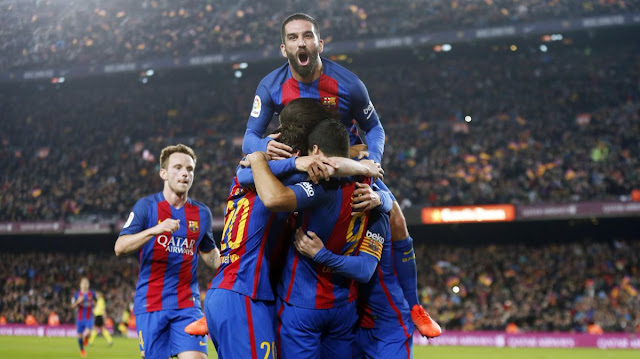 "HASIL PERTANDINGAN BARCELONA VS ATLETICO MADRID 1 - 1 ""3 KARTU MERAH DI CAMP NOU"""