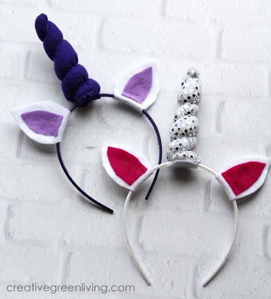 These cute unicorn headbands make a a wonderful homemade Valentin's Day Giftr