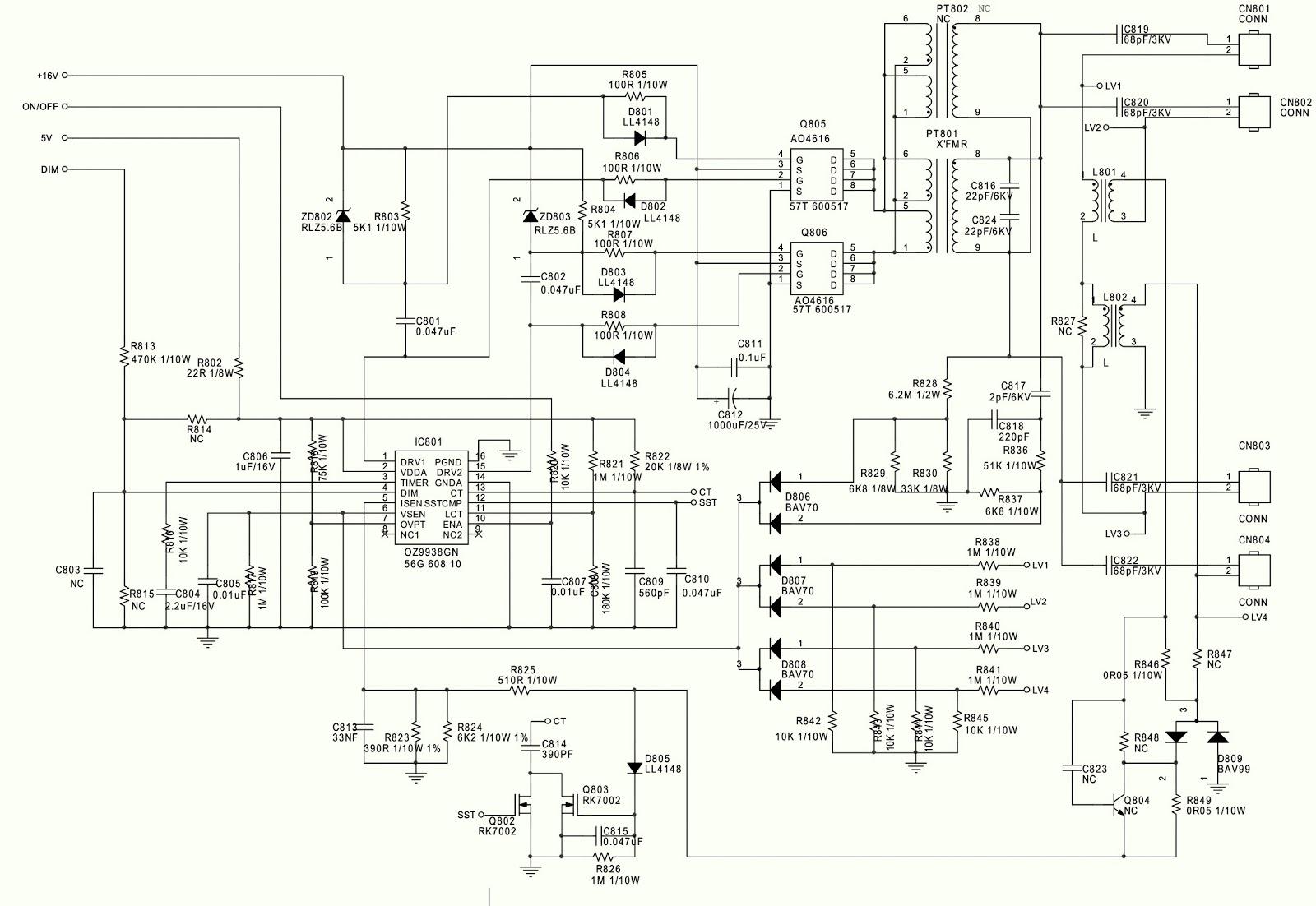 Aoc L19w981 Aoc L22w981 Aoc L26w98 Power Supply Smps And