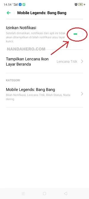 stop pemberitahuan mobile legends mengganggu
