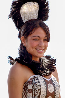 Polynesian Beauty Queen at Auckland Pasifika Festival