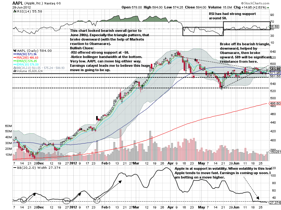 Stock Chart Learning : Apple's Stock Charts Dissected
