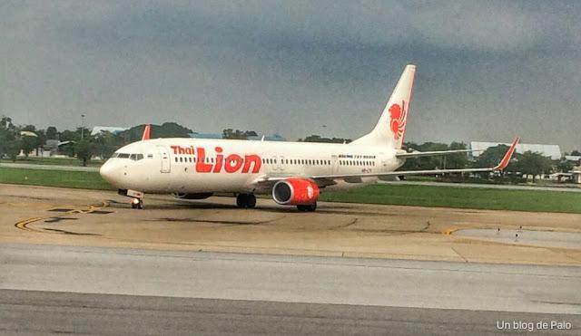 Avión de la compañía Thai Lion