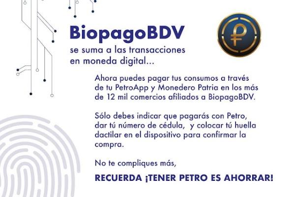 Comercios con BIOPAGO en Venezuela para que pague en PETRO