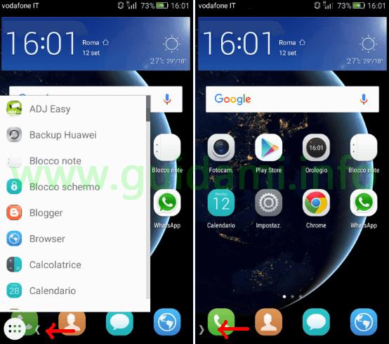 Taskbar applicazione Android