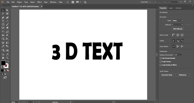 3D Text Effect in Adobe Illustrator