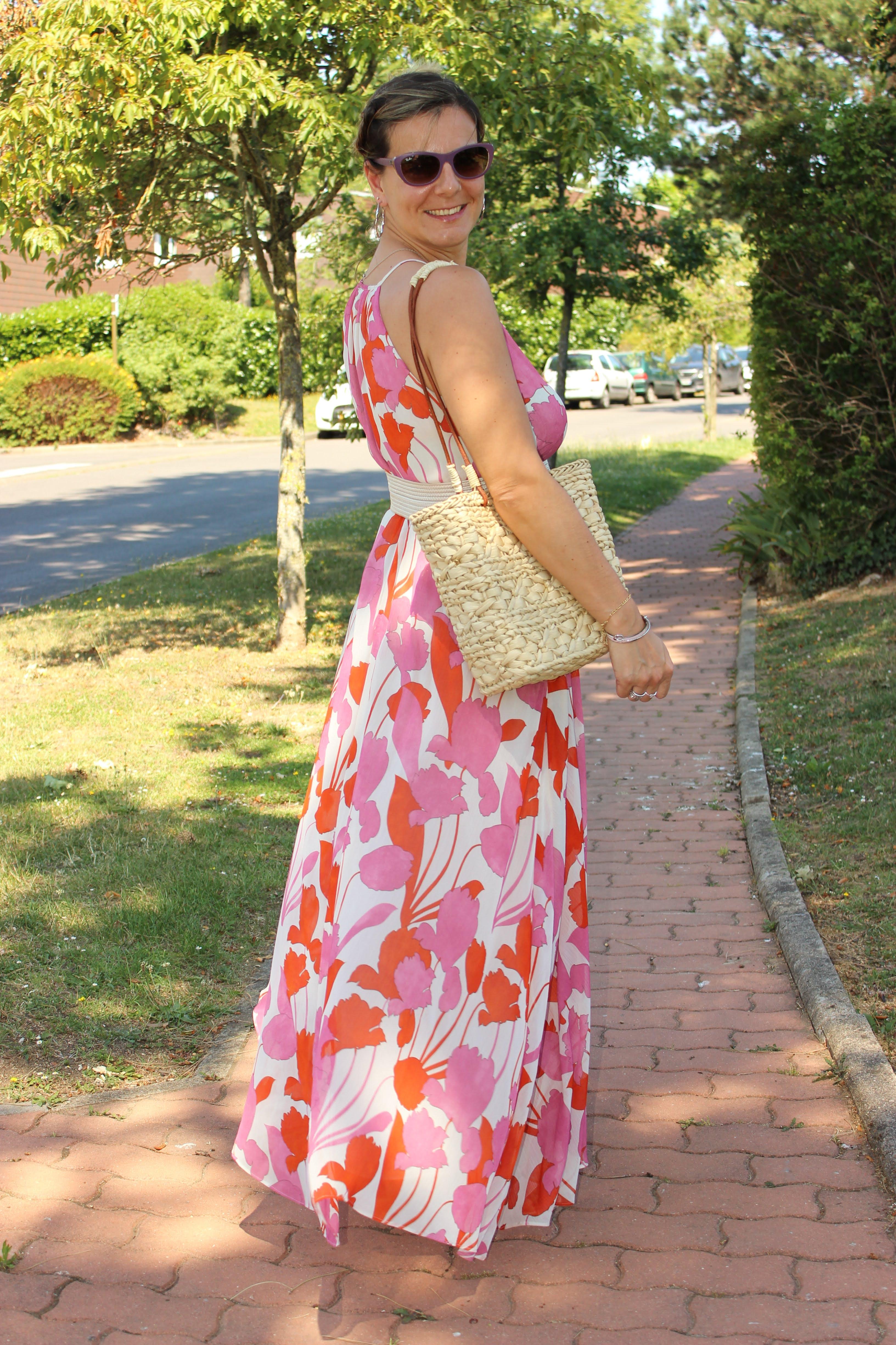 maxi dress addict, robe longue mango, les petites bulles de ma vie