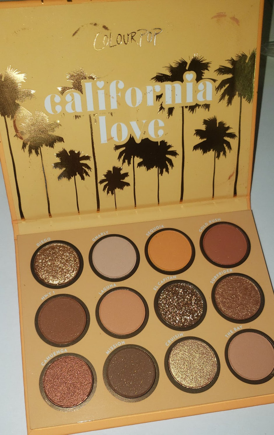 California Love Eyeshadow Palette : california, eyeshadow, palette, Makeup, ColourPop, California, Palette