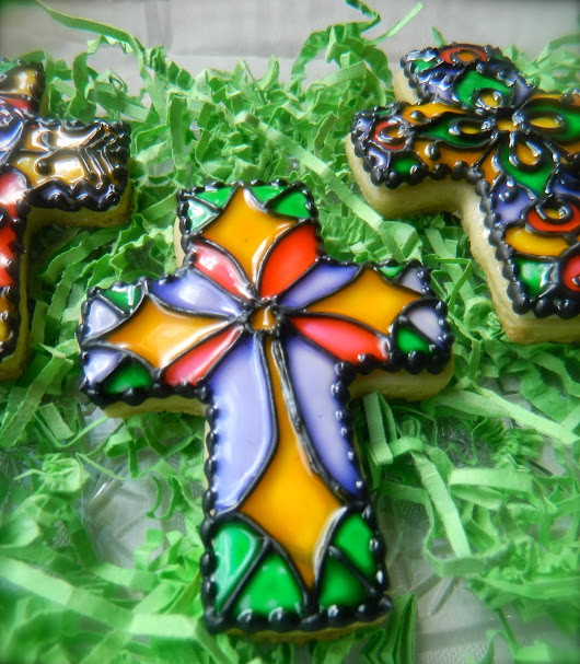 """Stained Glass"" Cookies"