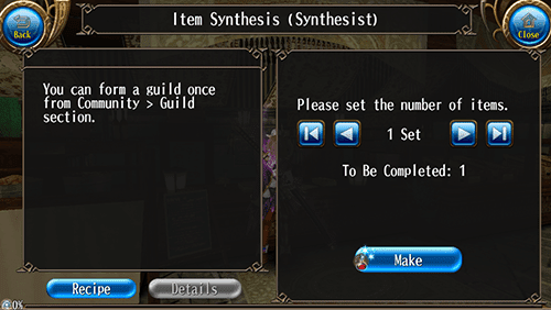 synthesising items Synthesis (合成, gousei), also known as various game-specific terms like fusion, is a feature in the series that revolves around customizing items and equipment, combining different types to create a new item altogether.
