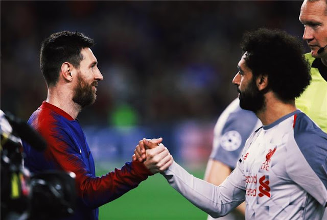 برشلونة يُوجه رسالة لمحمد صلاح عبر الحساب الرسمي علي تويتر