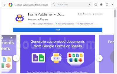 add-on Form Publisher