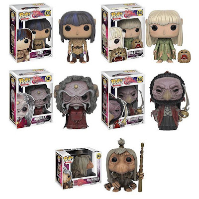 The Dark Crystal Pop! Vinyl Figure Series by Funko - Jen, Kira & Fizzgig, Aughra, The Chamberlain Skeksis & UrSol the Chanter