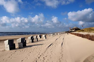 Las playas en Sylt, Alemania