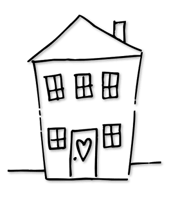 House Clipart, Free Clipart, Free Coloring Pages