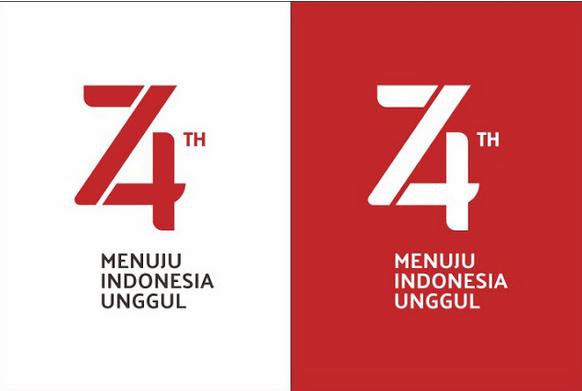 Keren Tema dan Logo HUT Ke-74 Kemerdekaan Republik Indonesia