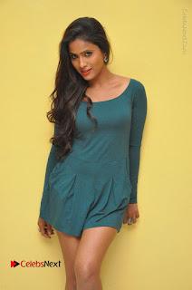 Telugu Actress Prasanthi Stills in Green Short Dress at Swachh Hyderabad Cricket Press Meet  0010.JPG