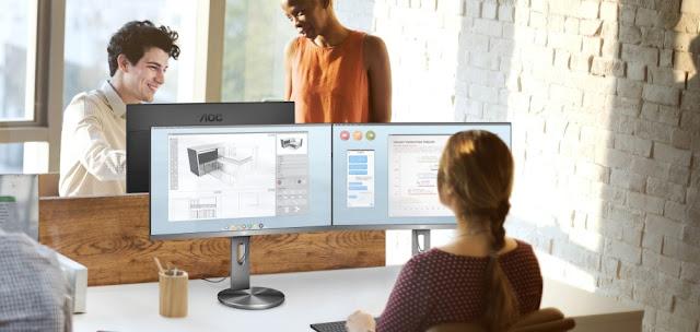 O novo display ergonómico e elegante 4K da AOC para profissionais, o U2790PQU