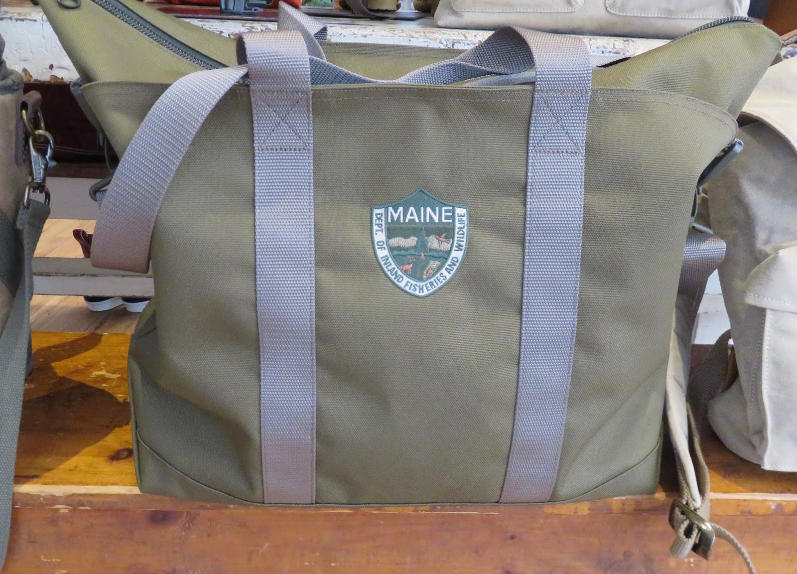 9ab141d9f029c8 L.L. Beans Hunter canvas open tote and iconic boat haulers are seen all  over the world, where ever we go! .Adding to the sturdy last forever bags-darker  ...