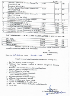 DC Rate Salary Rohtak 2021-22 page 3