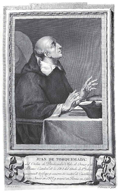 O Cardeal Juan de Torquemada declarou isentas de erro as visões da Santa