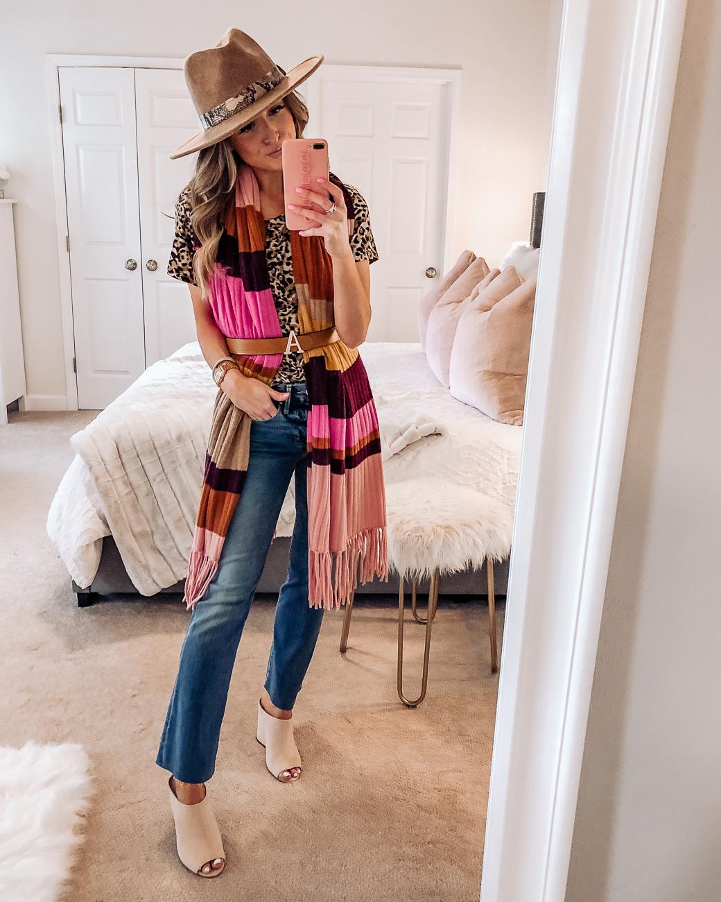 nordstrom halogen stripe cashmere wrap scarf