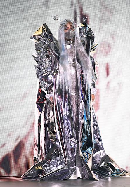 Lady Gaga is wearing a Candace Cuoco jacket