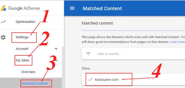 Adsense matched content ads kya hai,
