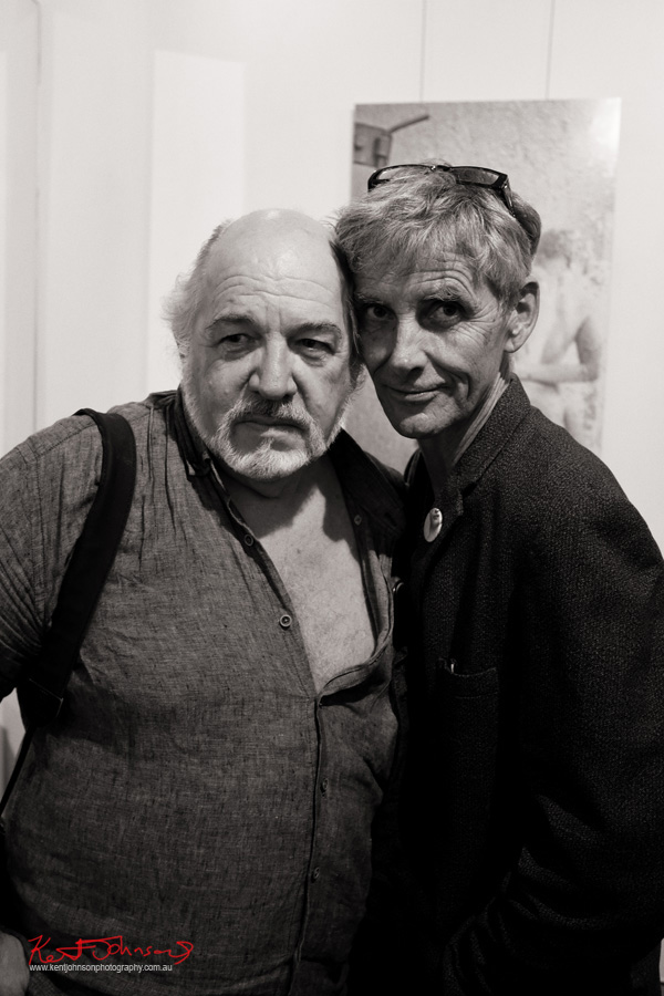 ‎Edmond Thommen and Geoffrey Goodes at‎ BLENDEDnudes at M2 Gallery Photo by Kent Johnson for Street Fashion Sydney.