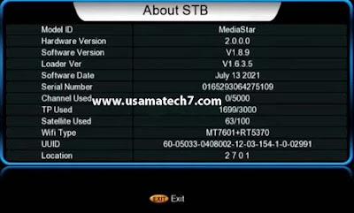 MediaStar 4MB Software for GX6605S 5815 & HW203