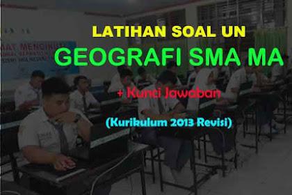 Contoh Soal UN (Ujian Nasional) SMA Geografi & Jawaban