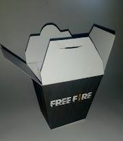 Festa tema FREE FIRE: Caixinha para pipoca