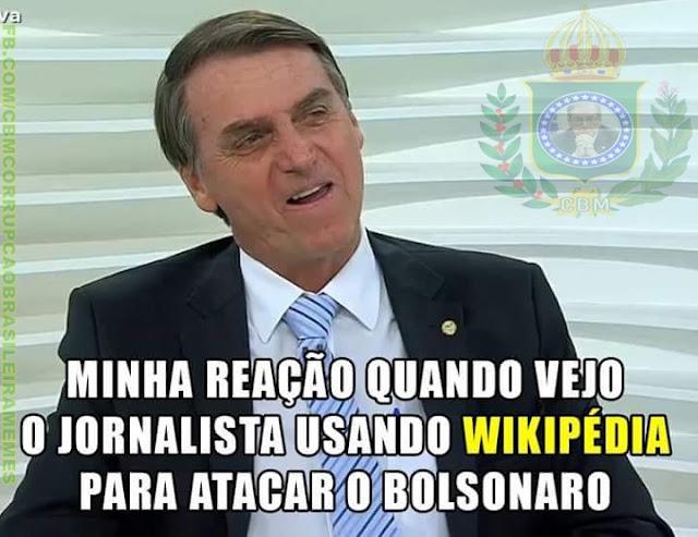 Sabatina de Bolsonaro no Roda Viva e memes da CBM