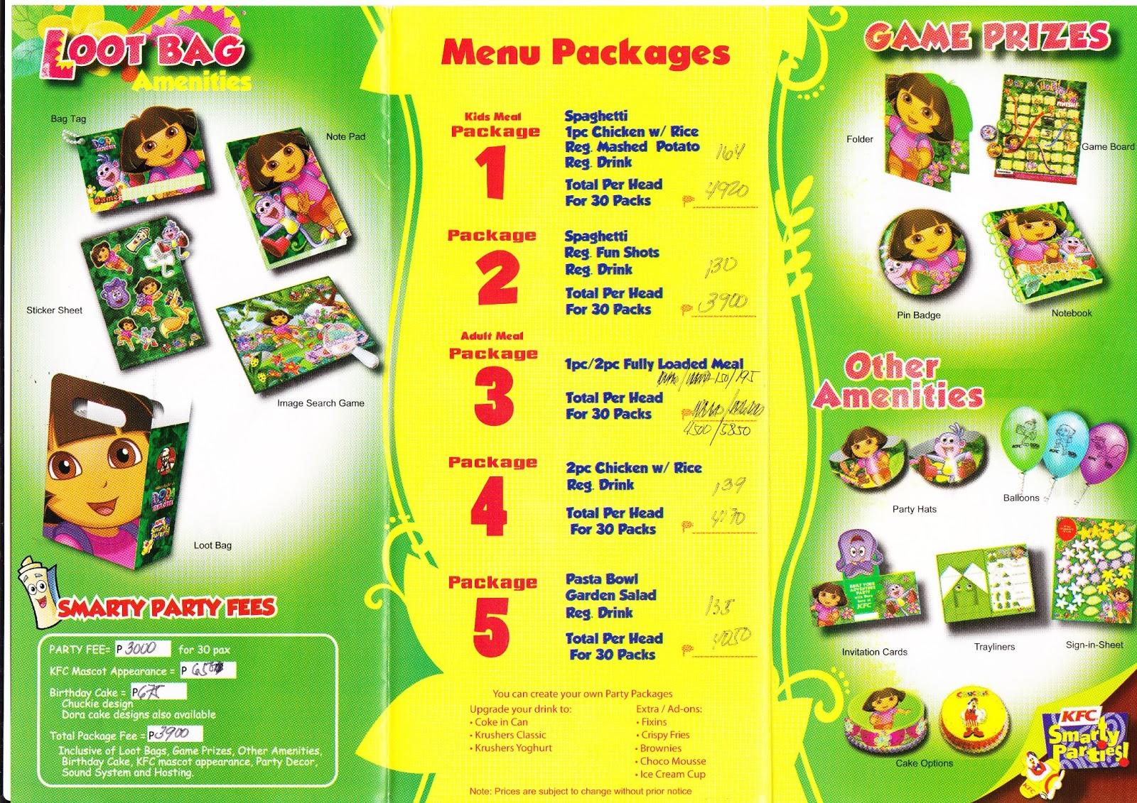 Moms kiddie party link kfc smarty party package 1232013 stopboris Gallery