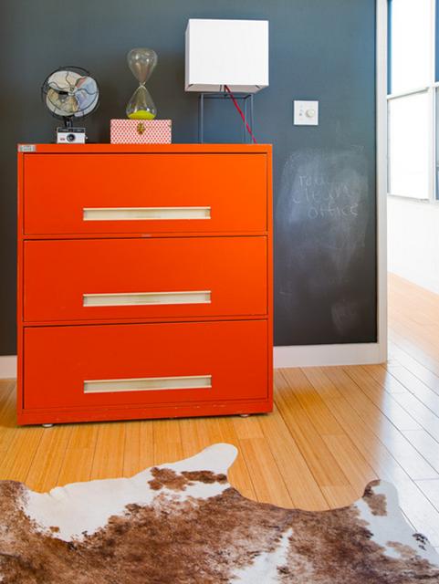detalhe decoração laranja