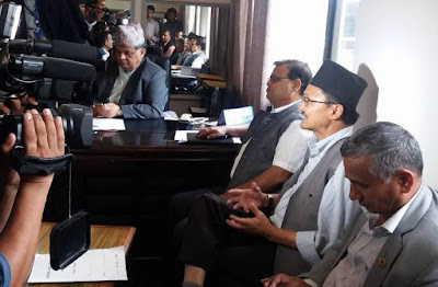 congress-maoist file no-confidence motion against pm Oli