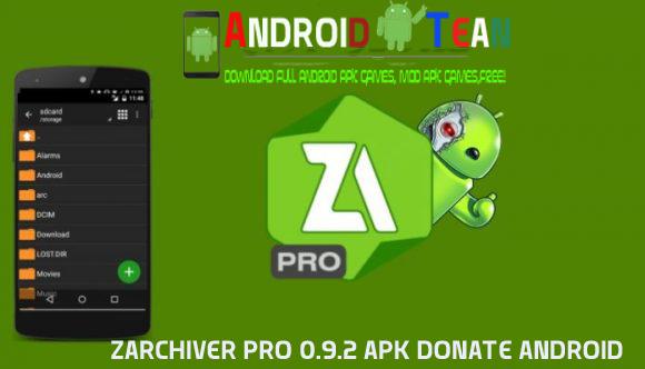 ZArchiver Pro 0.9.2 Apk Donate Android