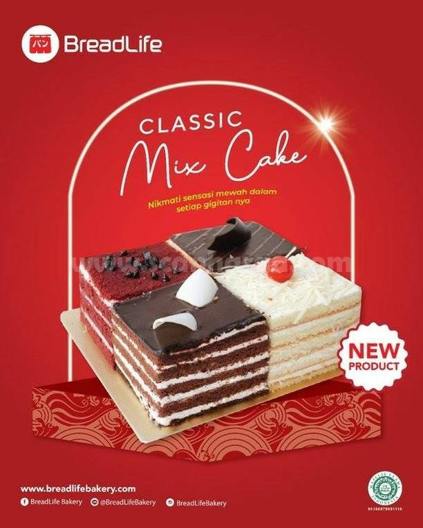 Baru! BREADLIFE Classic Mix Cake
