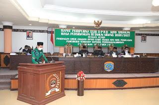 Pandangan Umum DPRD lewat Fraksi Atas Nota Penjelasan Pemerintah