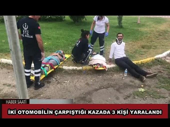 İLÇEMİZDE MEYDANA GELEN TRAFİK KAZASINDA 1'İ ÇOCUK 3 KİŞİ YARALANDI.
