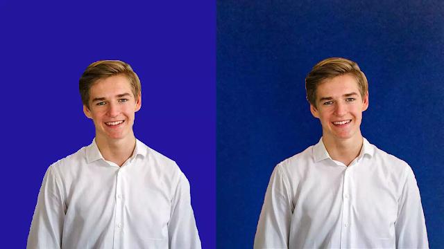 Kumpulan Background Biru Polos Untuk Pas Foto