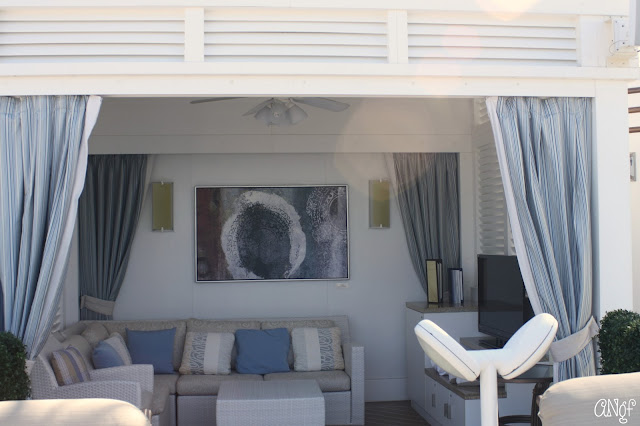 One of the private cabanas with widescreen telly on Royal Princess | Anyonita-nibbles.co.uk