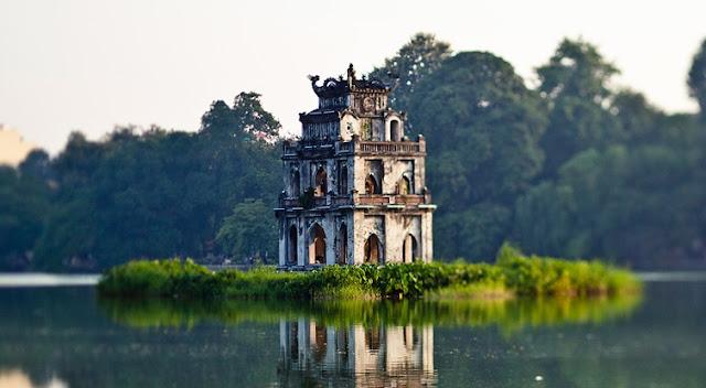vacaciones vietnam - lago Hoan Kiem
