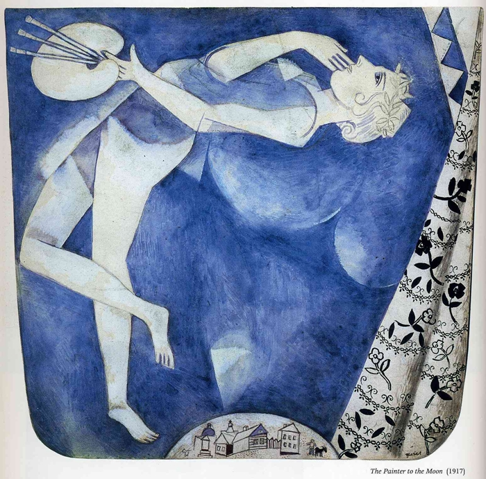 Marc Chagall - The Painter To the Moon. 1917