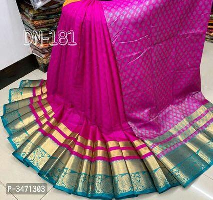 Jacquard Weave Border Banarasi Silk Sarees  rs814/-