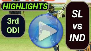 SL vs IND 3rd ODI 2021