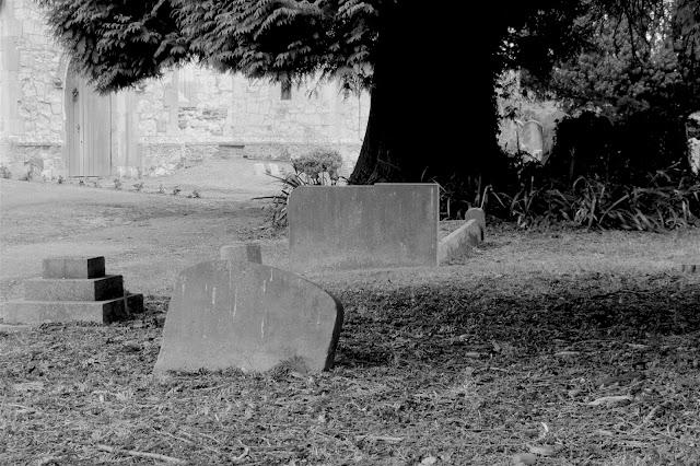 sunken headstone