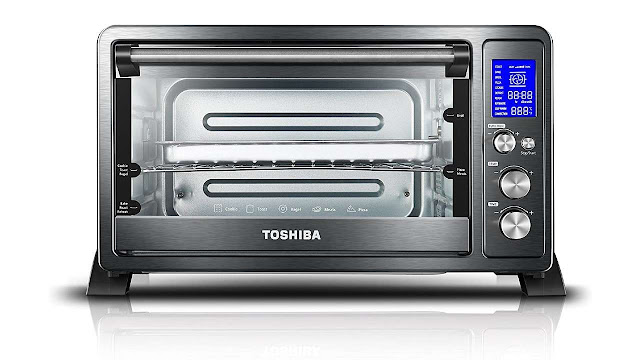 Toshiba AC25CEW-BS Digital Toaster Oven