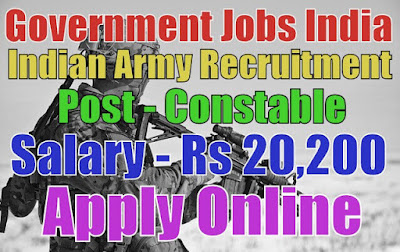 Indian Army Recruitment 2017 for Havildar Post